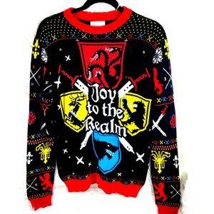 GAME OF THRONES Ugly Xmas Sweater sz Medium